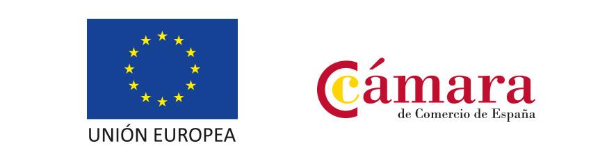 Logos Camara de Comercio y Unión Europea